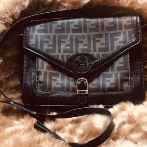 Vintage Fendi Envelope Crossbody Purse